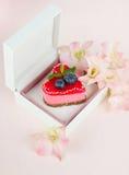 Cadre avec le gâteau Photos stock