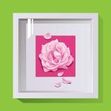 cadre avec le verre pour la décoration Photographie stock libre de droits