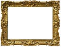 Cadre baroque fleuri d'or Photo libre de droits