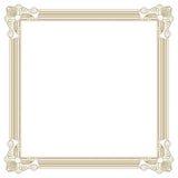 Cadre beige de photo Photographie stock