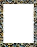 Cadre blanc avec des frontières de texture Images libres de droits