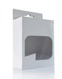 Cadre blanc avec l'hublot en plastique transparent Photos libres de droits