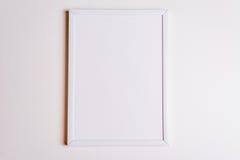 Cadre blanc avec le dessus de vue d'ombres Images stock