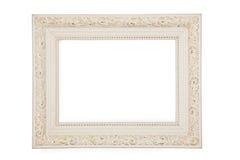Cadre blanc avec le modèle d'or Images stock