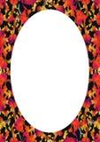 Cadre blanc avec les frontières arrondies de conception florale illustration libre de droits