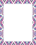 Cadre blanc avec les frontières décorées Image stock