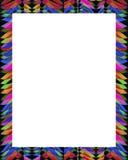 Cadre blanc avec les frontières décorées illustration stock
