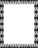 Cadre blanc avec les frontières décorées Photographie stock libre de droits