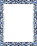 Cadre blanc avec les frontières décorées Image libre de droits