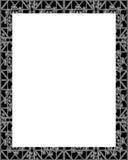 Cadre blanc avec les frontières décorées fleuries Photo stock