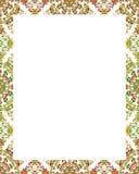 Cadre blanc avec les frontières décorées fleuries Images libres de droits