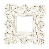 Cadre blanc classique de rectangle de vintage photo libre de droits