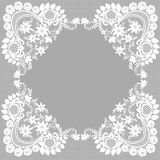 Cadre blanc de dentelle Image libre de droits