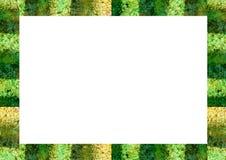 Cadre blanc de paysage avec des bords de couleurs de motif de jungle illustration de vecteur