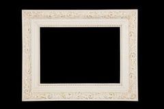 Cadre blanc de vintage sur le fond noir Images stock