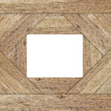 Cadre blanc sur le fond en bois Image stock