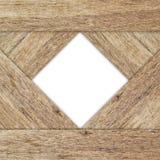 Cadre blanc sur le fond en bois Image libre de droits