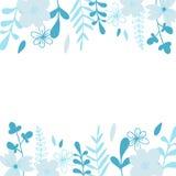 Cadre bleu élégant de vecteur Illustration pour épouser la carte d'invitation, copie illustration libre de droits