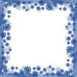 Cadre bleu de fleurs Photographie stock