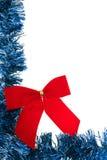 Cadre bleu de guirlande Photo libre de droits