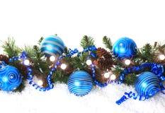 Cadre bleu de Noël Photo libre de droits