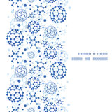 Cadre bleu de verticale de texture de molécules de vecteur Image libre de droits