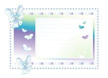 Cadre bleu fait de tissu avec des proues Images libres de droits