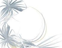 Cadre bleu plumeux Wispy de fond Photo libre de droits