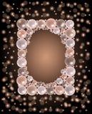 Cadre brillant de perles Images libres de droits