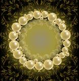 Cadre brillant de perles Photographie stock libre de droits