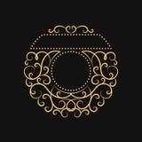Cadre calligraphique de vintage Cadre moderne de remous Éléments de conception de monogramme, calibre gracieux Élégant antique co Images stock