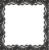 Cadre carré à partir des bords noirs de dentelle Photo libre de droits