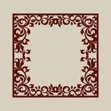 Cadre carré abstrait avec des remous Image stock