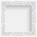 Cadre carré avec la frontière de dentelle de papier de coupe-circuit Images libres de droits