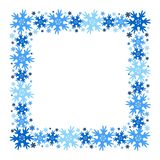 Cadre carré d'hiver de vecteur des flocons de neige D'isolement illustration de vecteur
