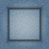 Cadre carré de jeans Photo libre de droits