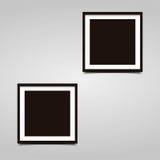Cadre carré de la photo deux avec l'ombre sur un fond gris illustration libre de droits