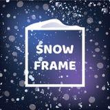 Cadre carré de neige Fond de chutes de neige Vecteur ENV 10 pour votre conception d'hiver Photographie stock