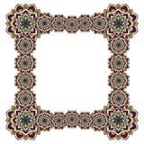 Cadre carré des fleurs abstraites Photographie stock libre de droits