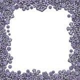 Cadre carré fait de différents flocons de neige Image libre de droits