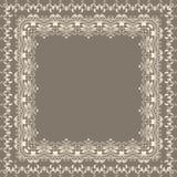 Cadre carré floral fin de vecteur Élément décoratif pour des invitations et des cartes Élément de frontière Photos libres de droits