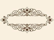 Cadre carré floral fin de vecteur Élément décoratif pour des invitations et des cartes Photographie stock libre de droits