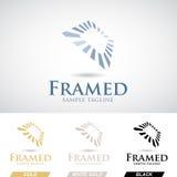 Cadre carré Logo Icon dans diverses couleurs Photo libre de droits