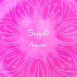 Cadre carré rose lumineux Photographie stock