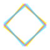 Cadre carré tramé du vecteur CMYK illustration de vecteur