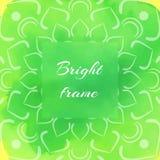 Cadre carré vert clair Photos stock