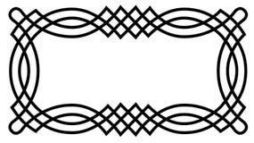 Cadre celtique de noeud Images stock