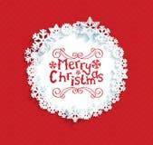 Cadre circulaire avec les flocons de neige Image libre de droits
