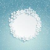 Cadre circulaire de Noël Photos stock