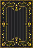 Cadre classique d'or avec le modèle oriental Photographie stock